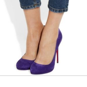 Christian Louboutin Filo 120 Suede Pumps in Purple